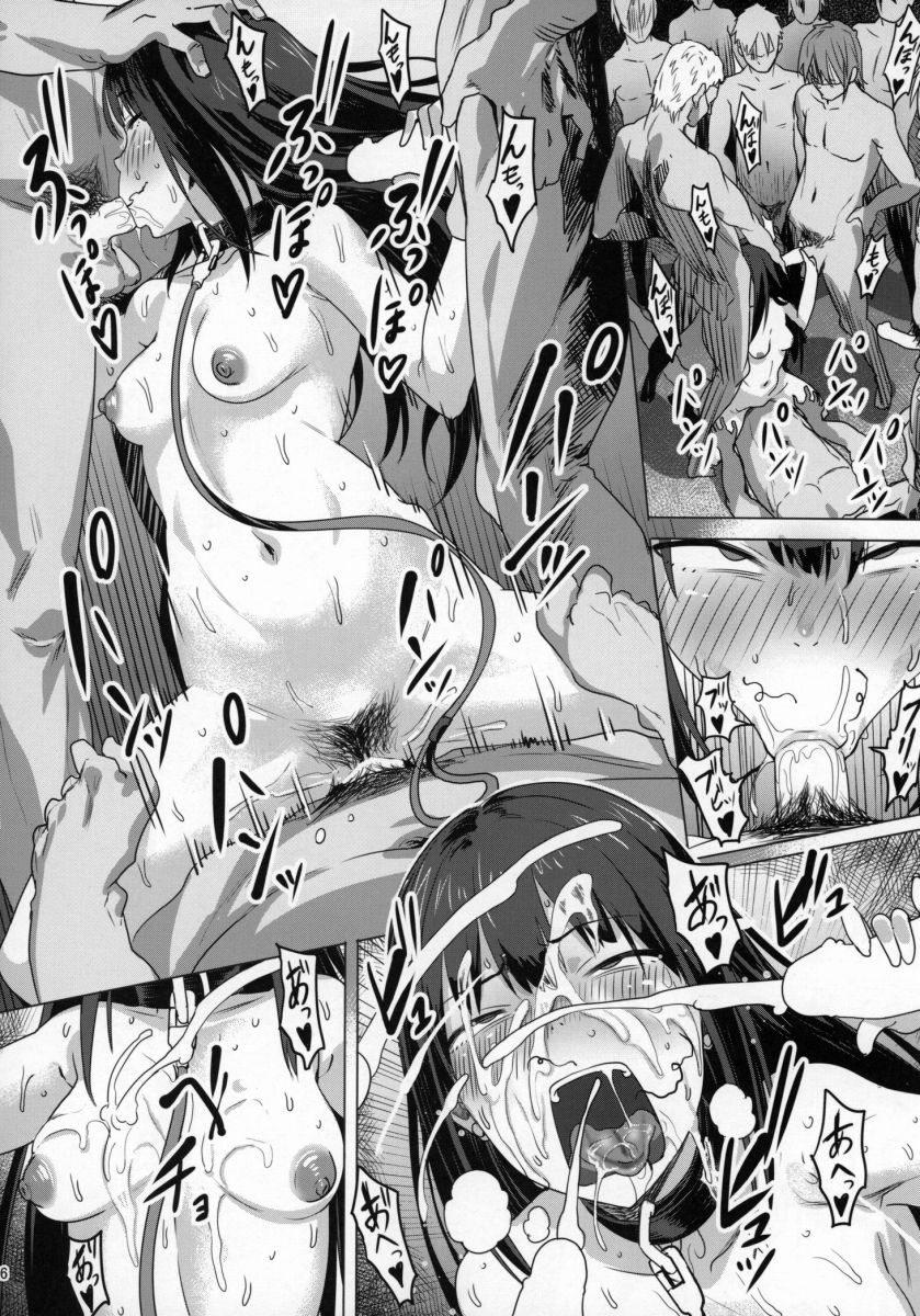 【エロ漫画】欲求不満で事務所でオナニーしてた凛ちゃんがちひろちゃんにバレて変なお店紹介されて男達と輪姦して孕まされるほど中出しされて満足しちゃってるよwwwwww
