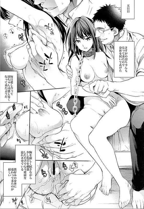 【エロ漫画】首輪で監禁された凛ちゃんがオチンポ中毒でご主人様にご奉仕してライブ配信までされちゃってますwwwww